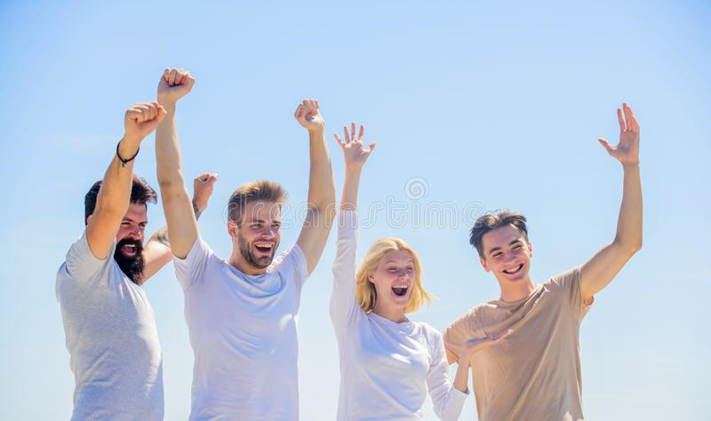 Happiest time together. Enabling effective communication. Business team. Corporate team group. group of four people royalty free stock photos