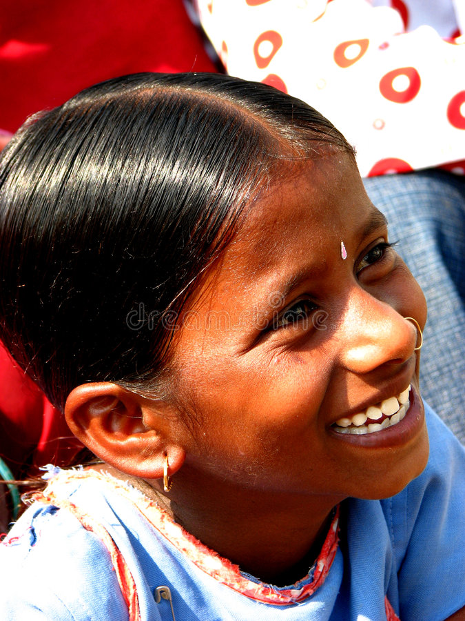 Happiness. A very happy Indian girl stock photos