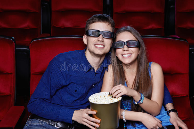Download Happiness stock image. Image of dark, male, looking, popcorn - 24828127