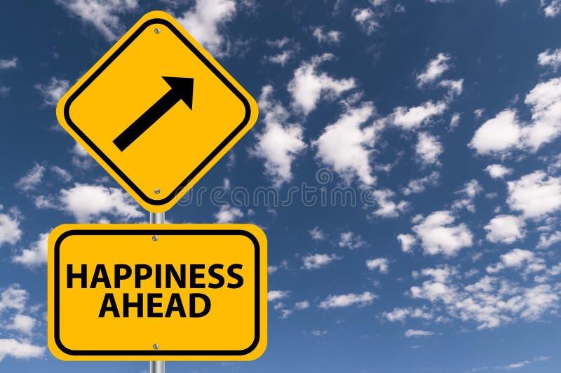 Happiness ahead stock image