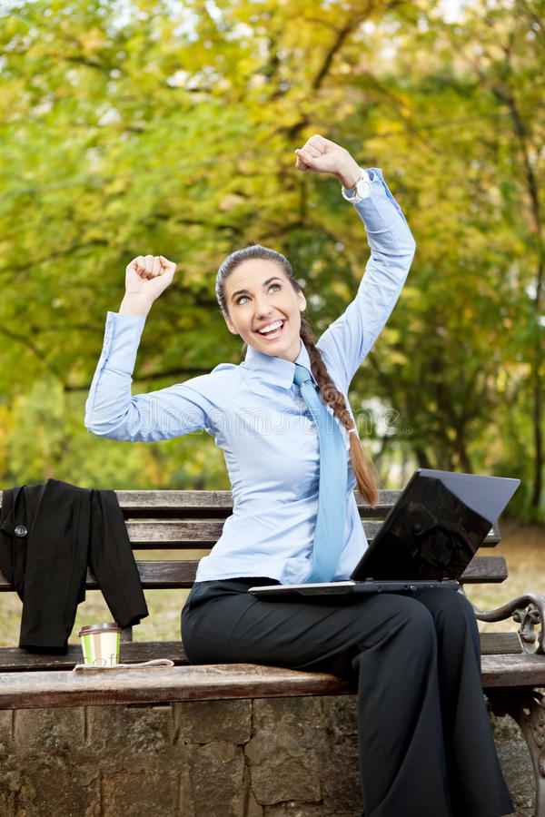 Happiness Businesswoman Stock Photos