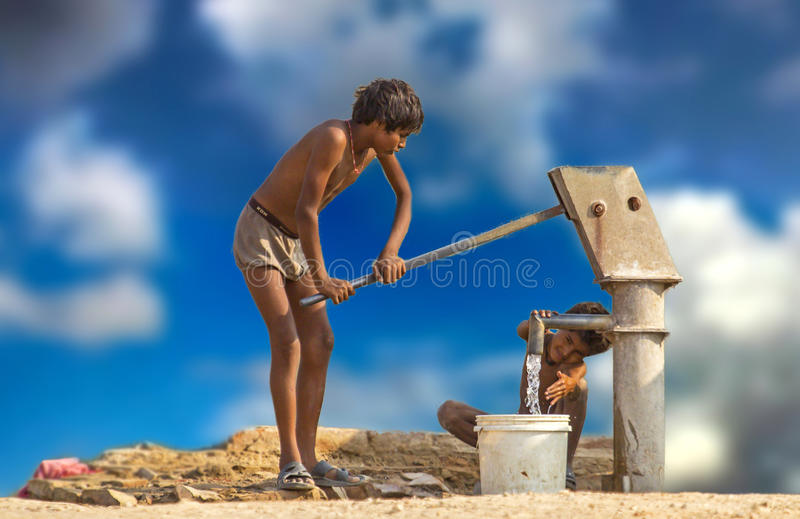 Happiness within Children Innocent Smile stock image