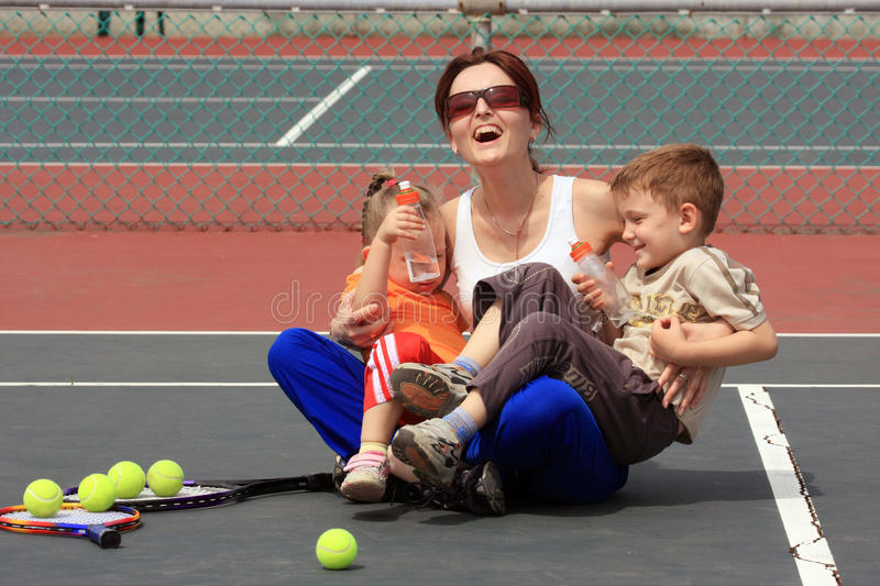 Happiness On The Court Royalty Free Stock Photography