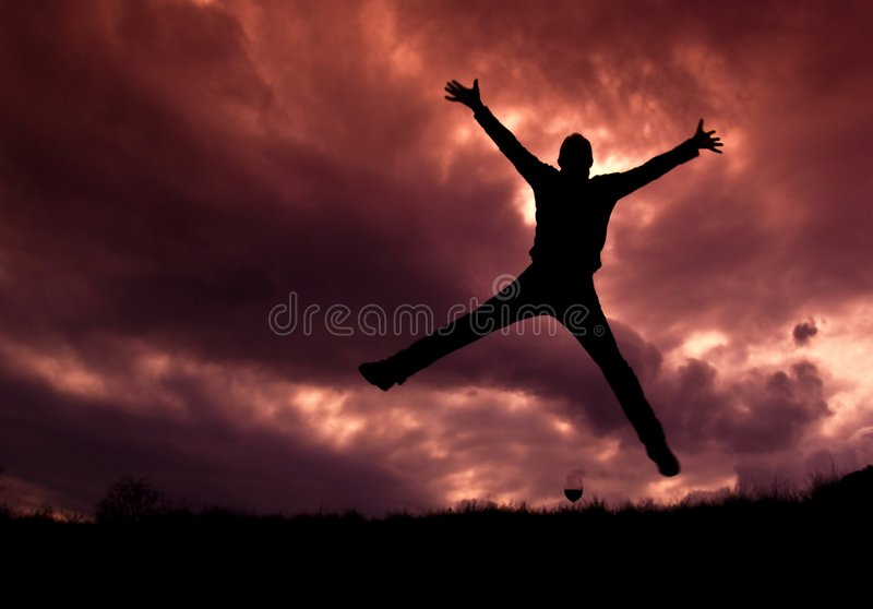 Happiness explosion royalty free stock images