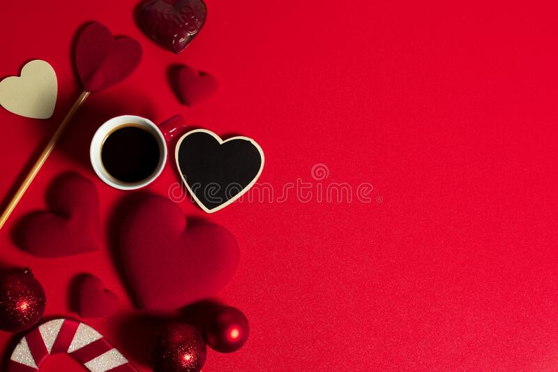 happiness family with love red heart decoration in festive holiday season greeting of valentine`s day gift wedding stock photos