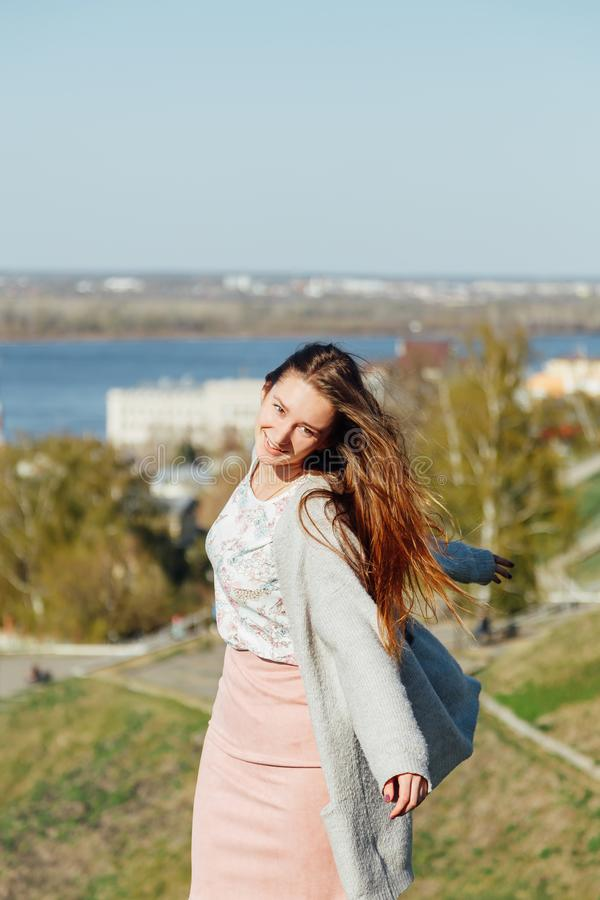 Happiness, fashion and people concept stock photography