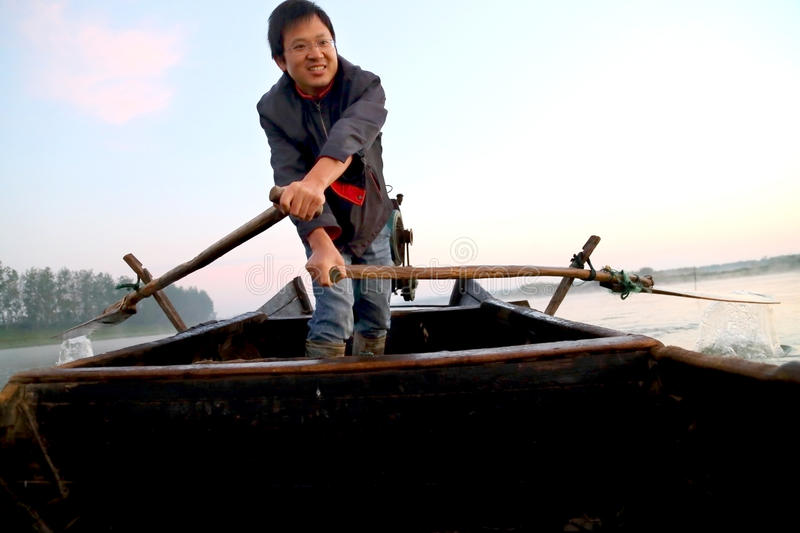 The happiness fisherman stock images
