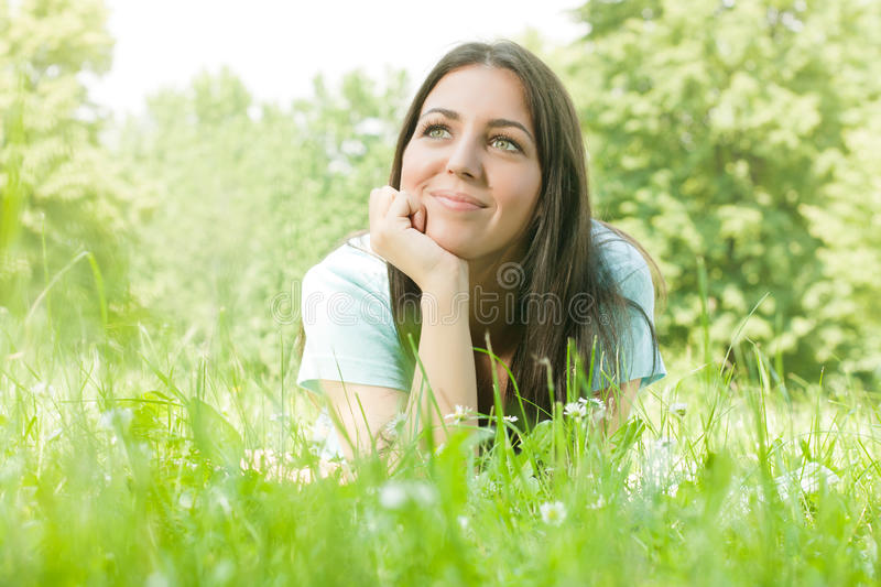 Download Happiness girl stock photo. Image of enjoyment, grass - 19687174