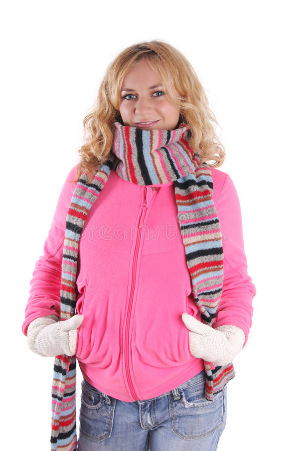 Download Happiness Girl In Warm Clothes 3 Stock Image - Image: 7108225