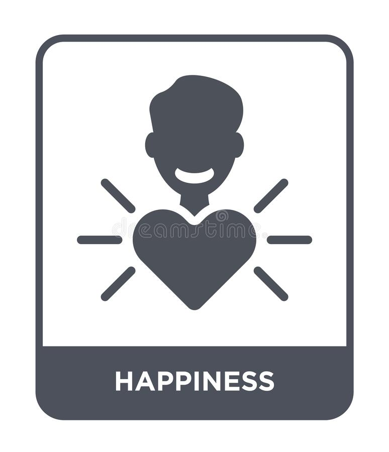 happiness icon in trendy design style. happiness icon isolated on white background. happiness vector icon simple and modern flat vector illustration