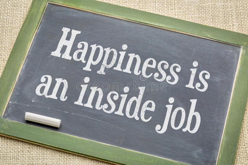 Happiness in an inside job stock images