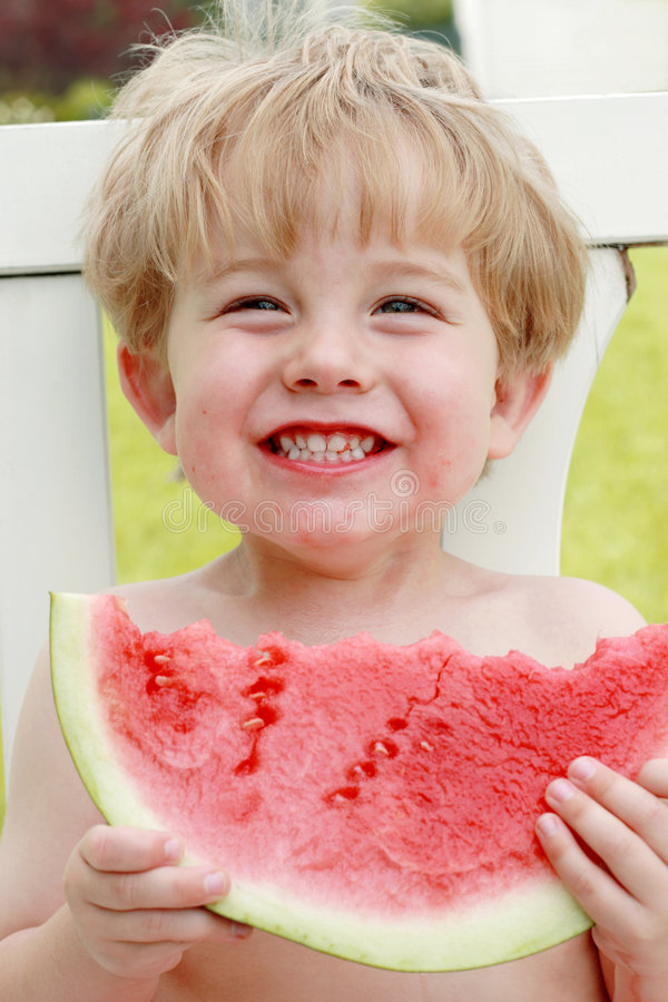 Free Happiness Is A Slice Of Watermelon Royalty Free Stock Image - 831766