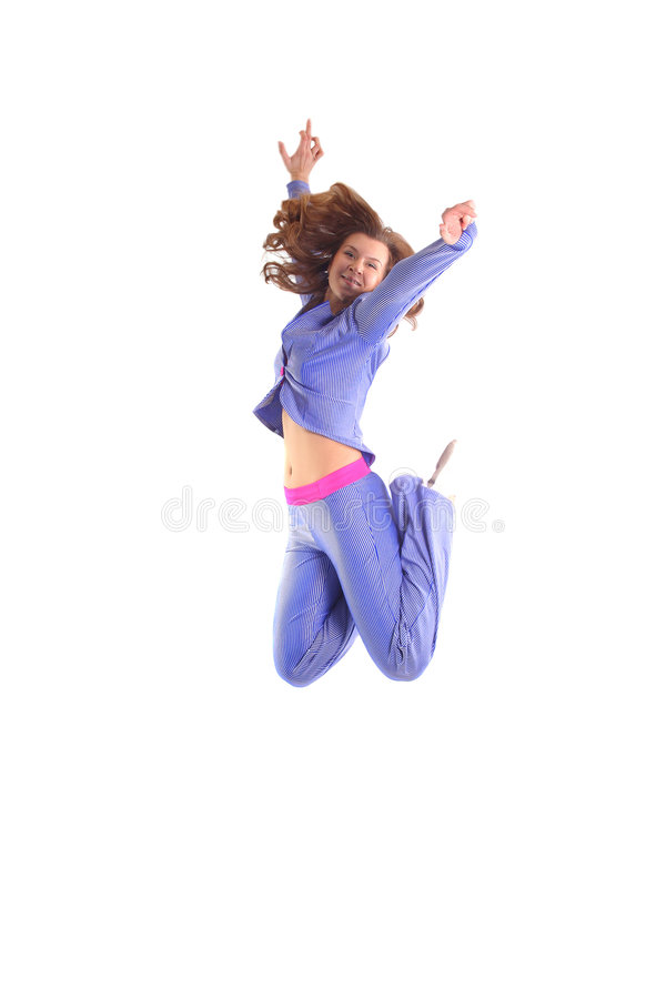 Download Happiness jump stock image. Image of hair, exercising - 1989963