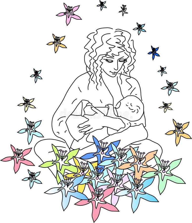Download Happiness of motherhood stock vector. Image of newborn - 8108903
