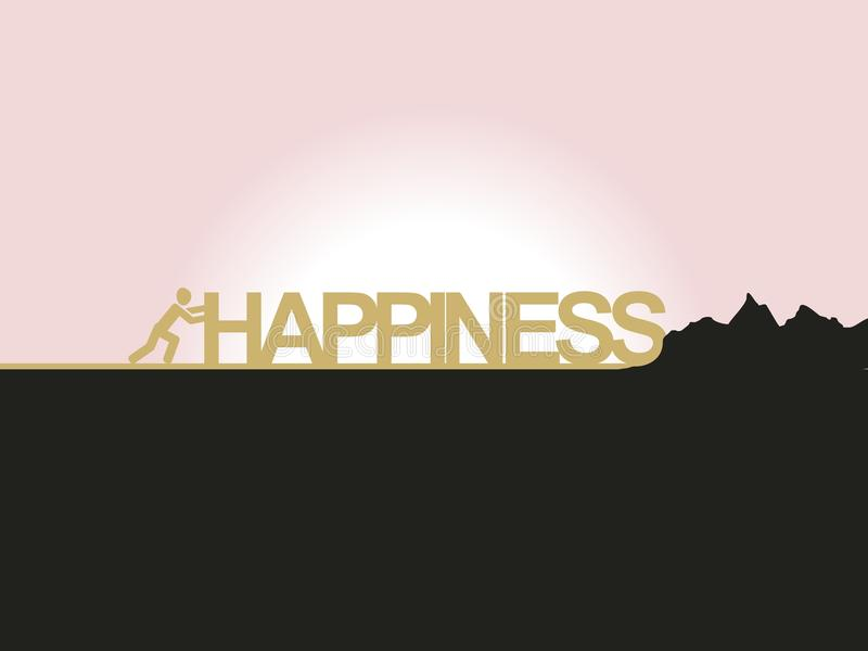 Happiness royalty free illustration