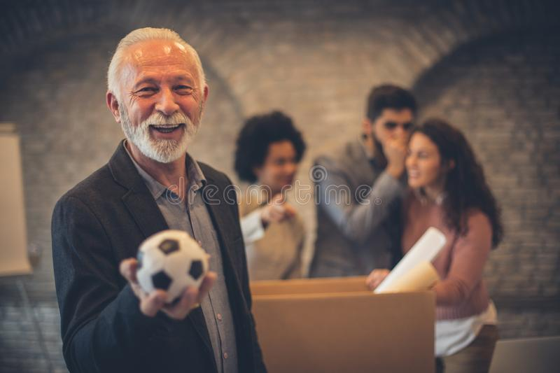 Happiness is when you do what you love stock image