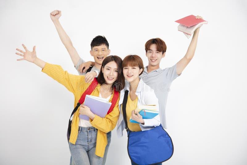 Happpy Aziatische jonge groep student royalty-vrije stock fotografie