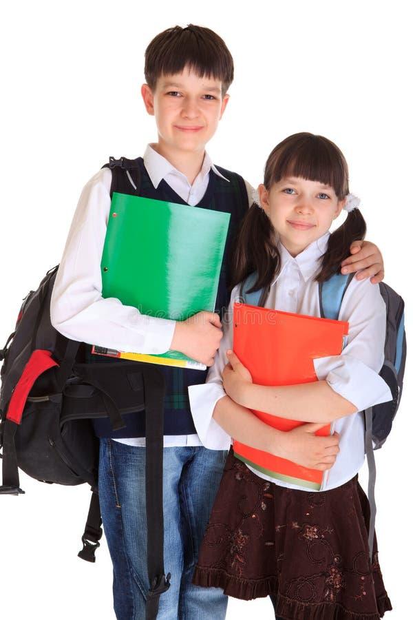 Happpy junge Schulkinder lizenzfreie stockbilder