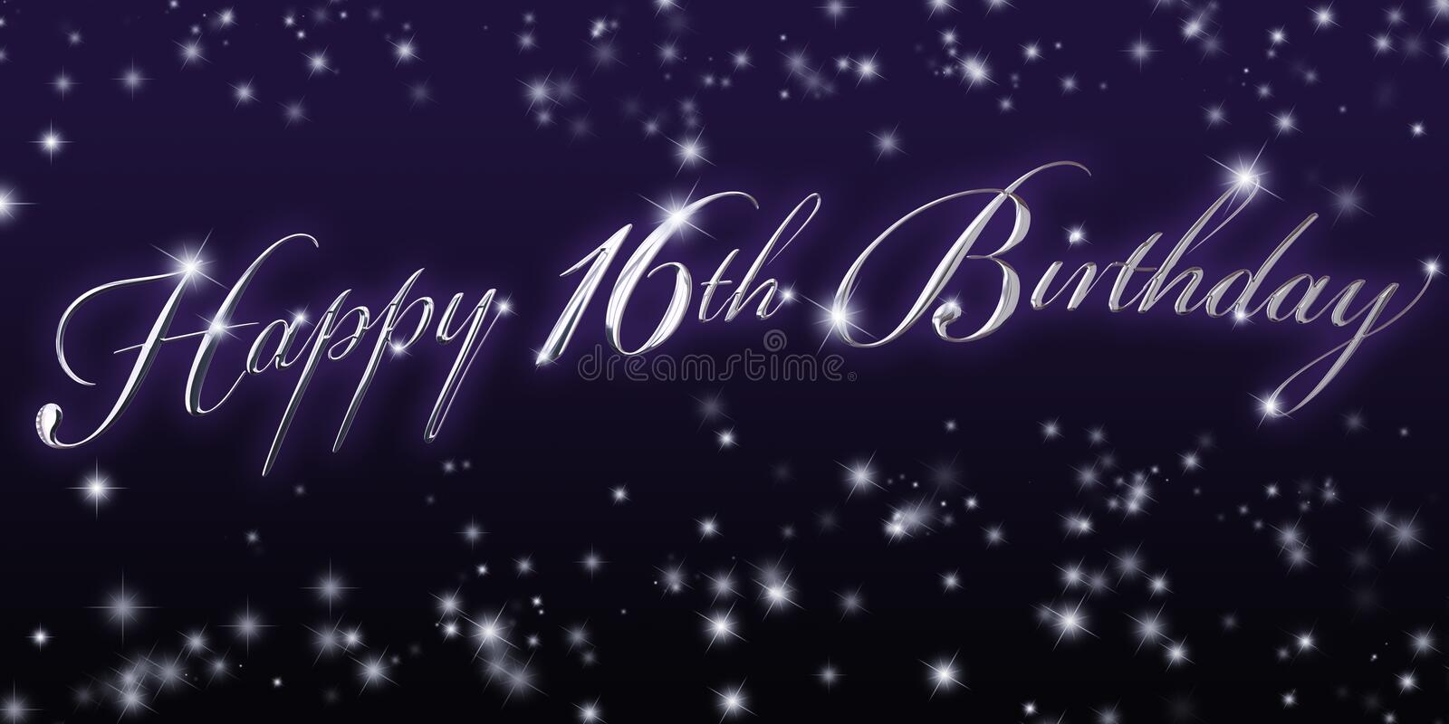 Download Happy 16th Birthday Banner stock illustration. Image of backgrounds - 6976407