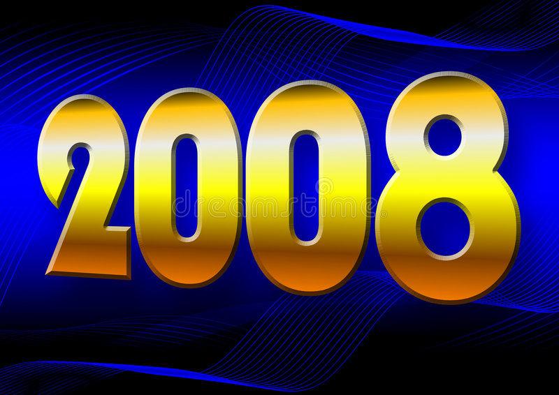 Happy 2008. Illustration of the year 2008 royalty free illustration