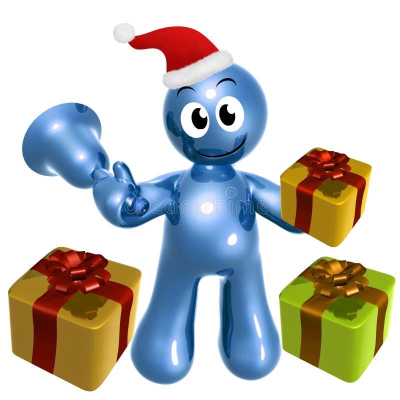 Download Happy 3d Icon Wearing Santa Hat Stock Illustration - Illustration: 11513339
