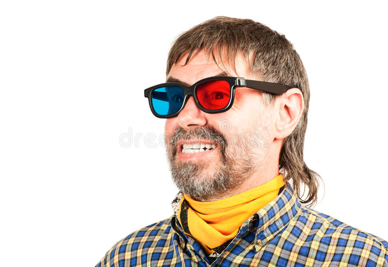 Download Happy 3d spectator stock photo. Image of mouth, glasses - 26039428