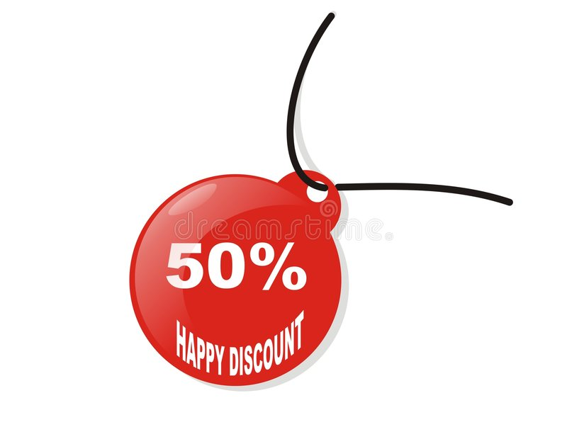 Download Happy 50% discount stock vector. Illustration of prices - 4067143