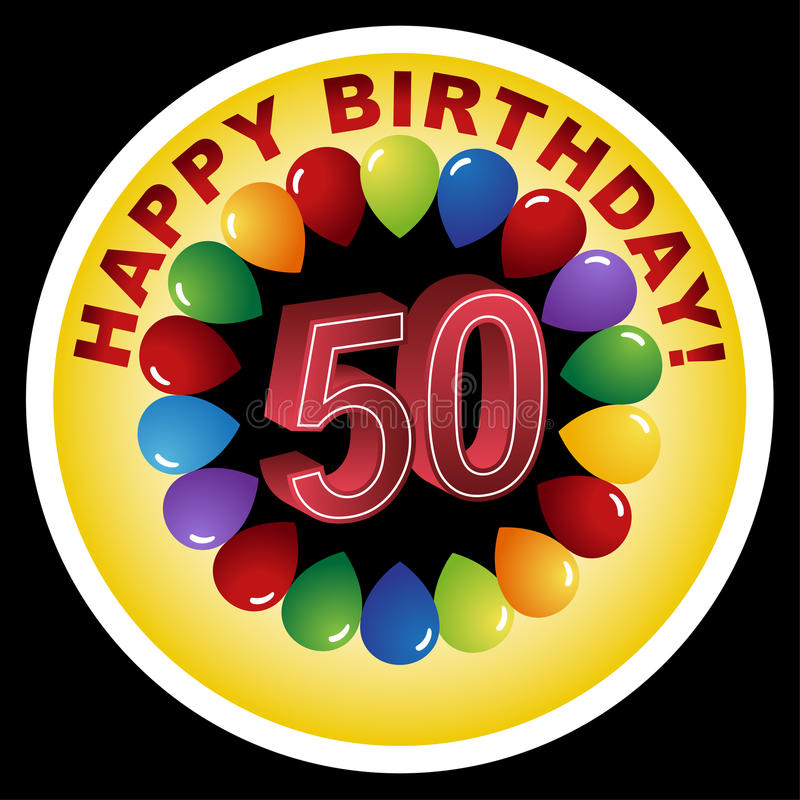 Happy 50th Birthday!. An image for a Happy 50th Birthday vector illustration