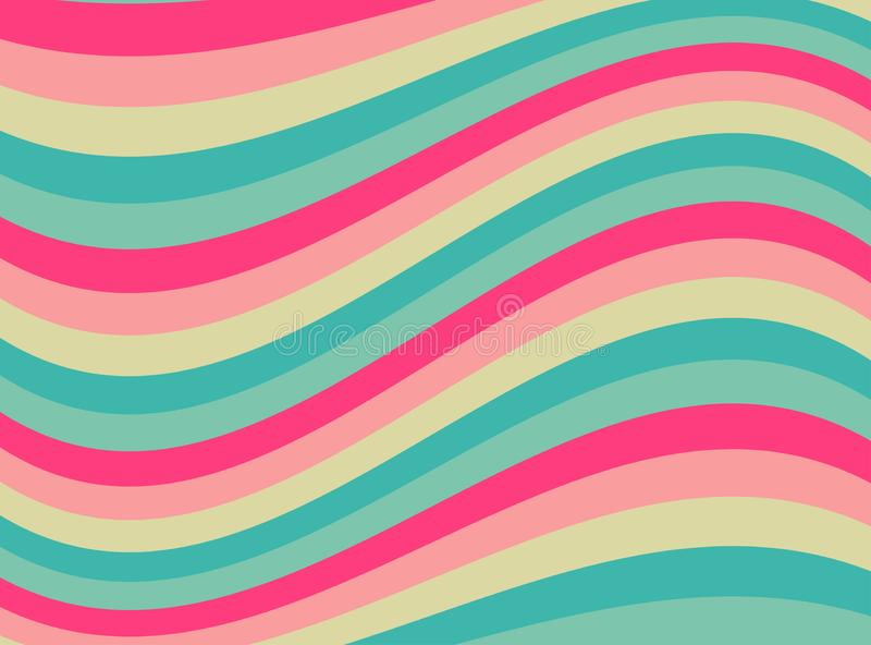 Happy abstract wavy background. stock illustration