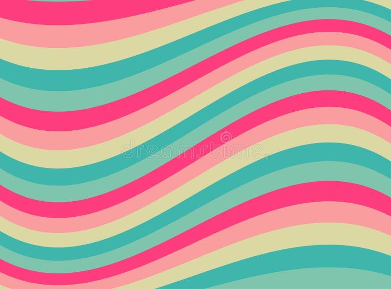 Happy abstract wavy background. stock illustration