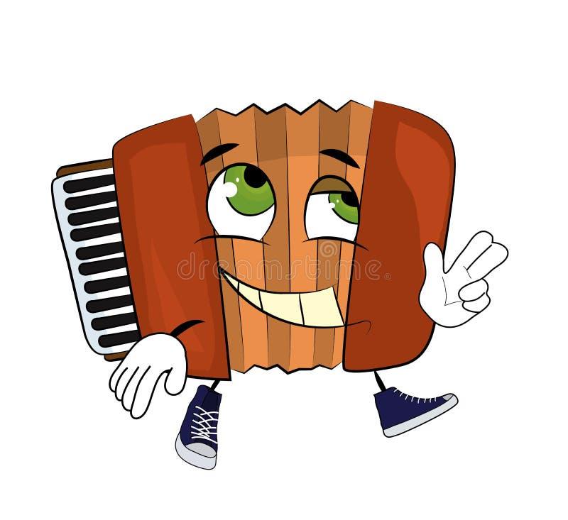 Happy Accordion illustration. Vector illustration of happy accordion illustration stock illustration