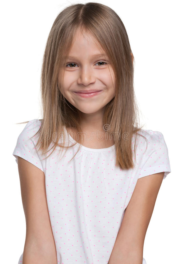 Happy adorable young girl stock photography