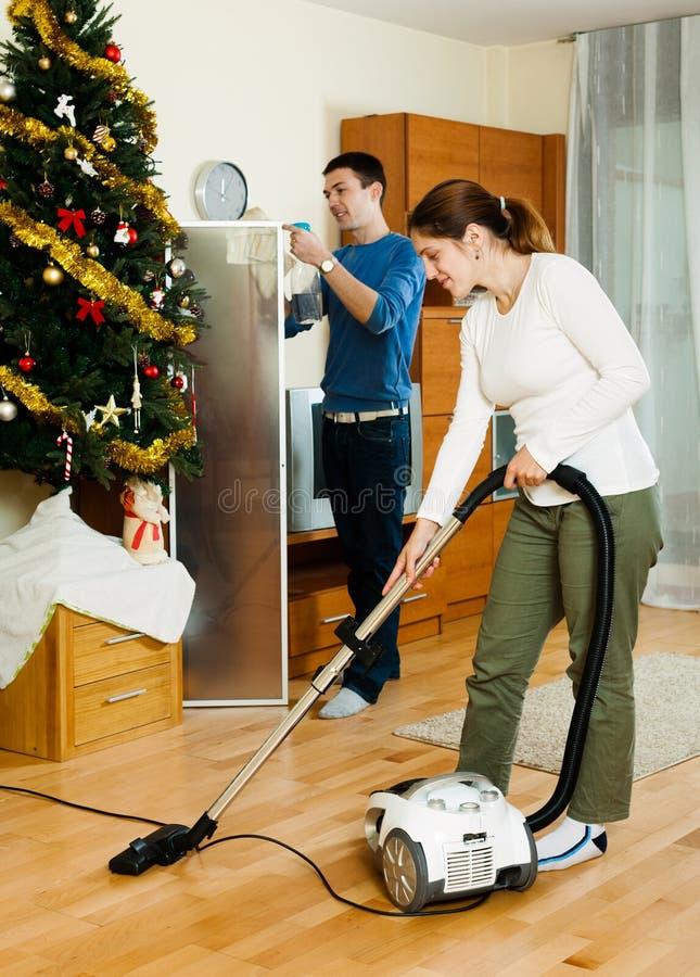 Download Happy Adult Couple Doing Housework Stock Image - Image: 39178763