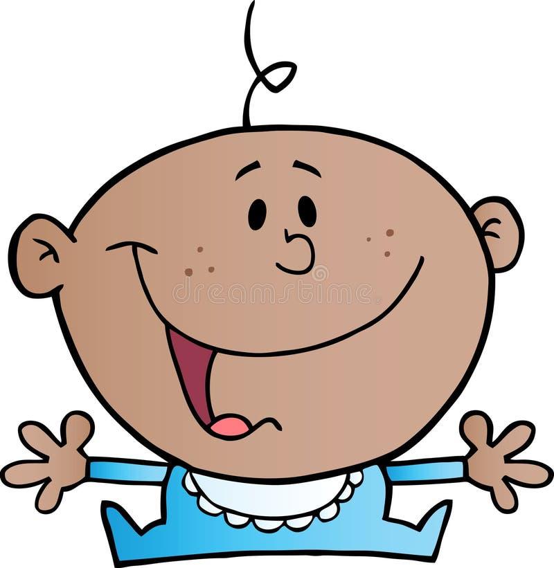 Download Happy African American Baby Boy Stock Vector - Image: 21325124