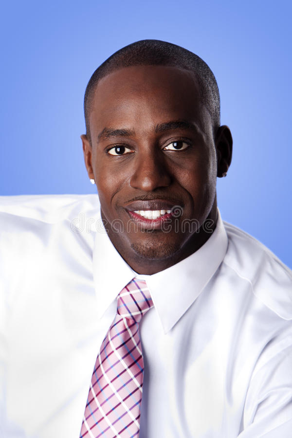 Happy African American business man stock photo
