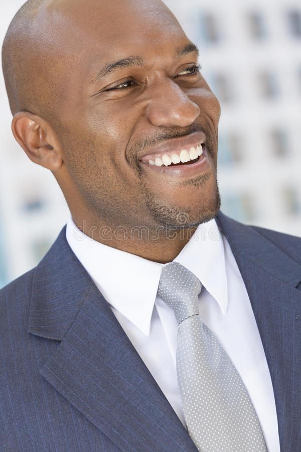 Happy African American Businessman royalty free stock photo