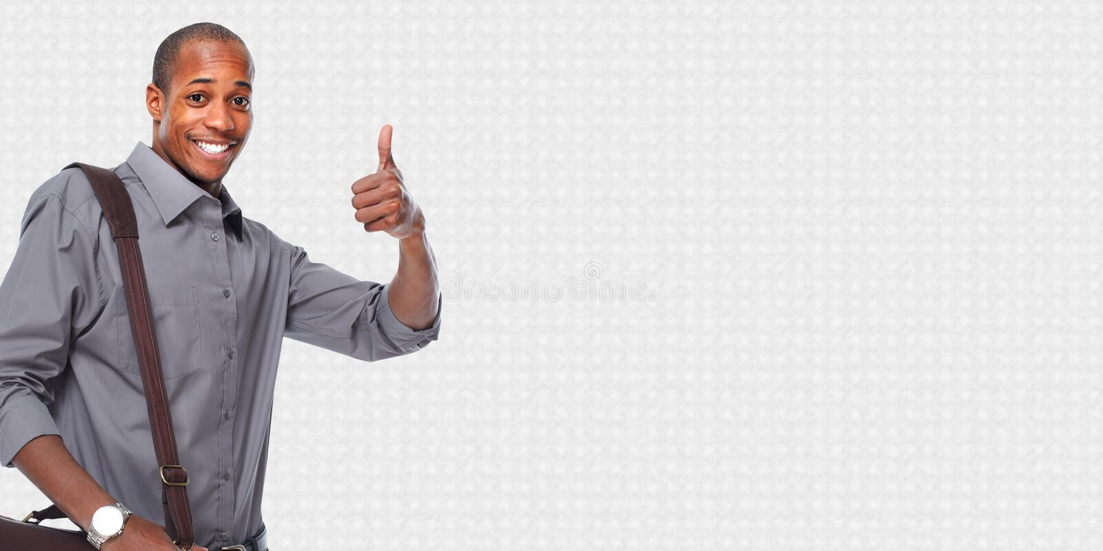 Happy African american businessman. royalty free stock images