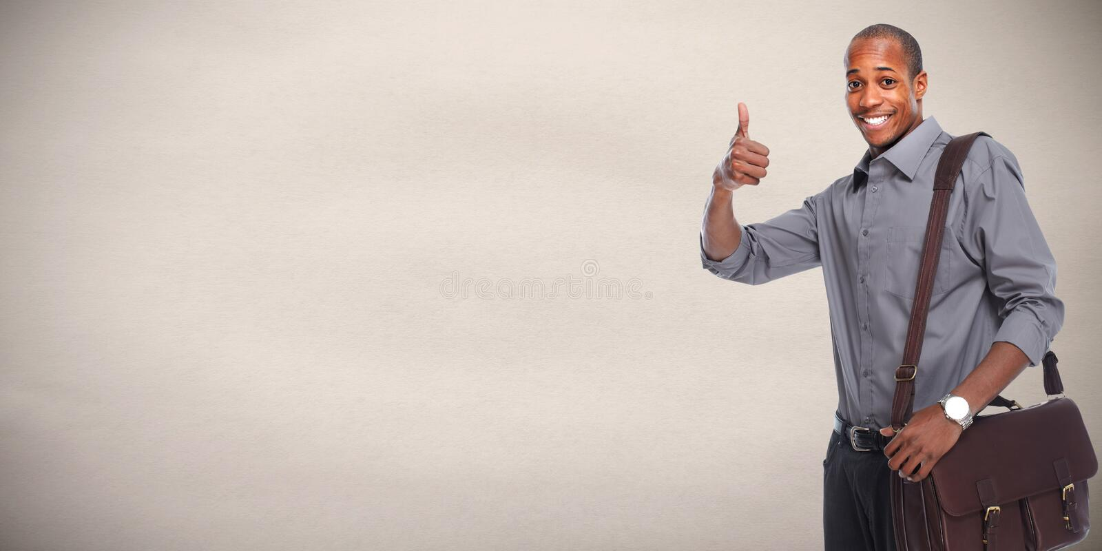 Happy African american businessman. royalty free stock image