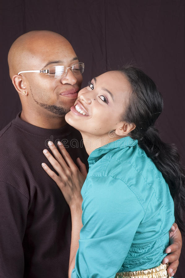 Happy african-american couple royalty free stock photo