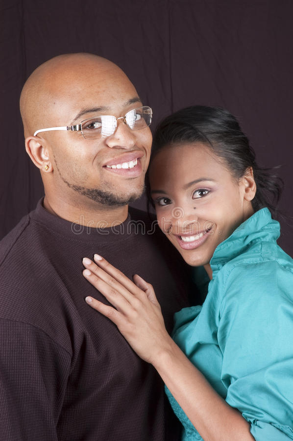 Happy african american couple royalty free stock photography