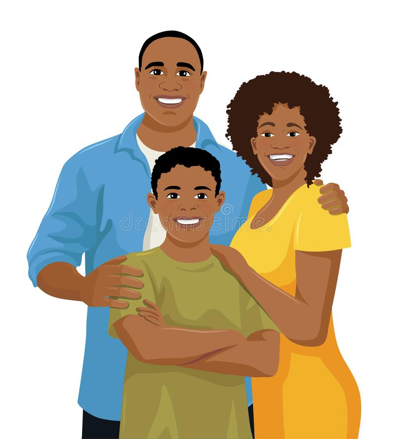 Shopping Concept African American Family Buyer Stock Vector (Royalty Free)  428033977