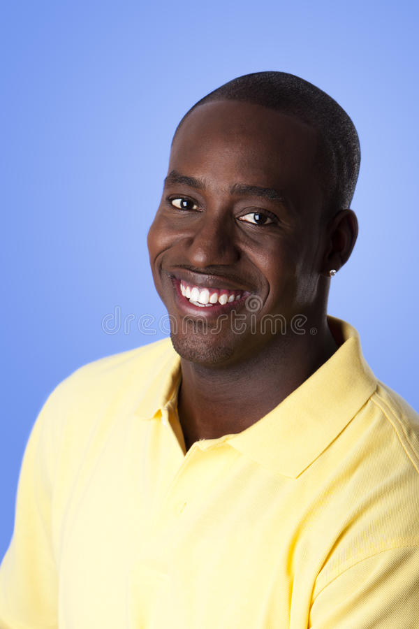Happy African American man royalty free stock image