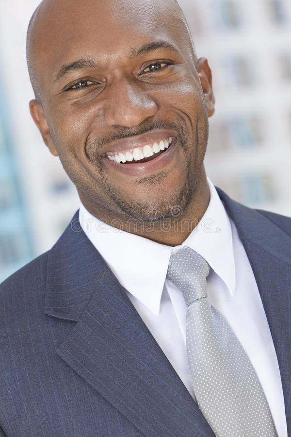 Happy African American Man or Businessman royalty free stock photography