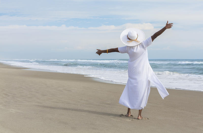 Download Happy African American Woman Dancing On Beach Stock Photography - Image: 27630352