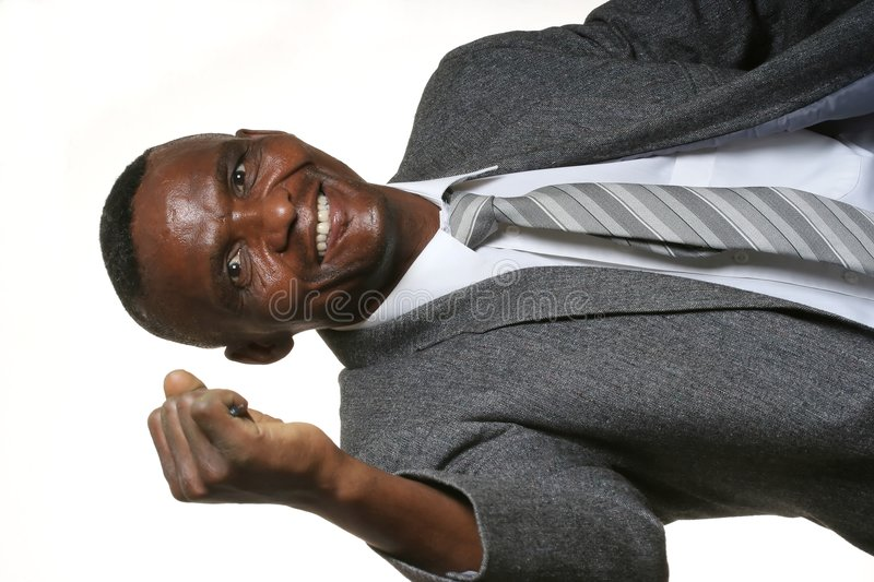 Happy African Business Man stock photos