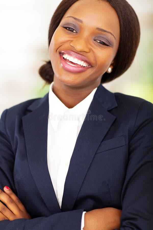 Happy african businesswoman stock photos