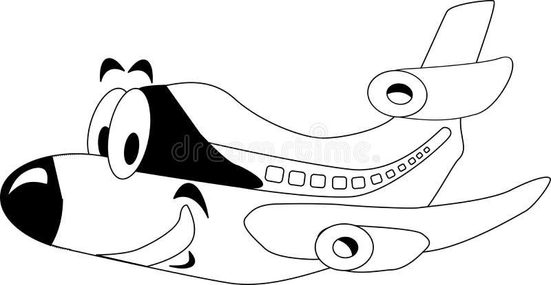 Happy airplane royalty free illustration