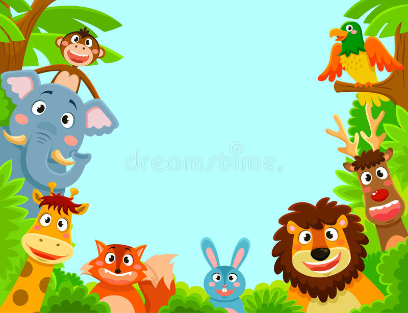 Happy animals royalty free illustration