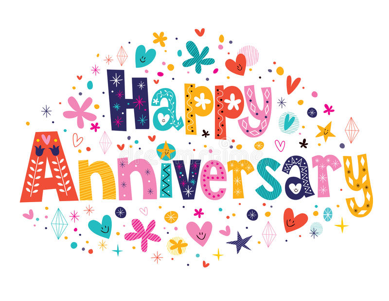 Happy Anniversary vector illustration