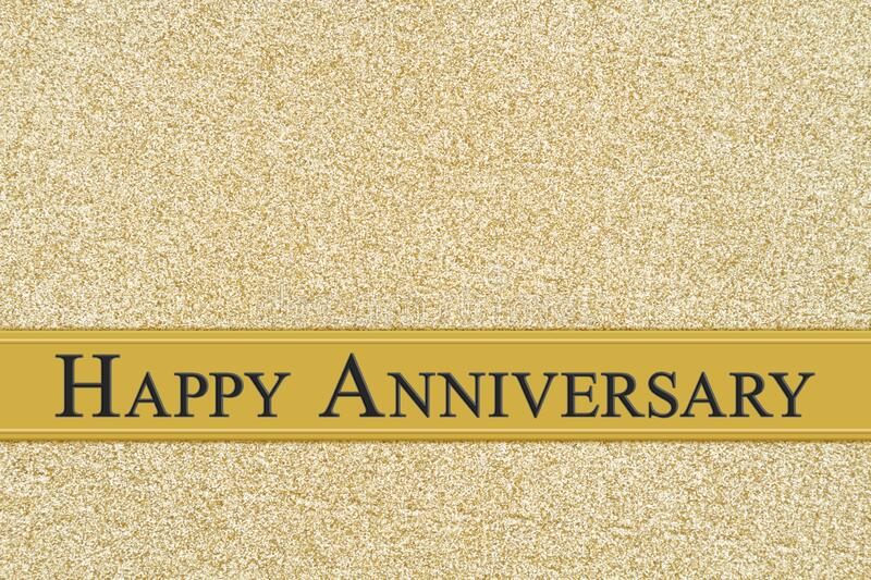Happy Anniversary Gold Greeting Card Stock Photo Image Of Greeting Love 173630760